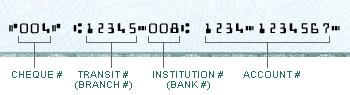 Toronto-Dominion Bank (TD Canada Trust) routing number on check